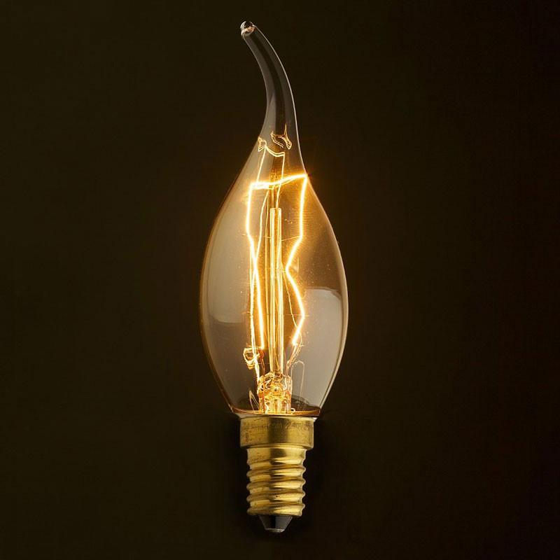 Лампочка Loft It Ретро лампа накаливания (свеча на ветру) Loft It E14 60W 220V 3560-TW от svetilnik-online
