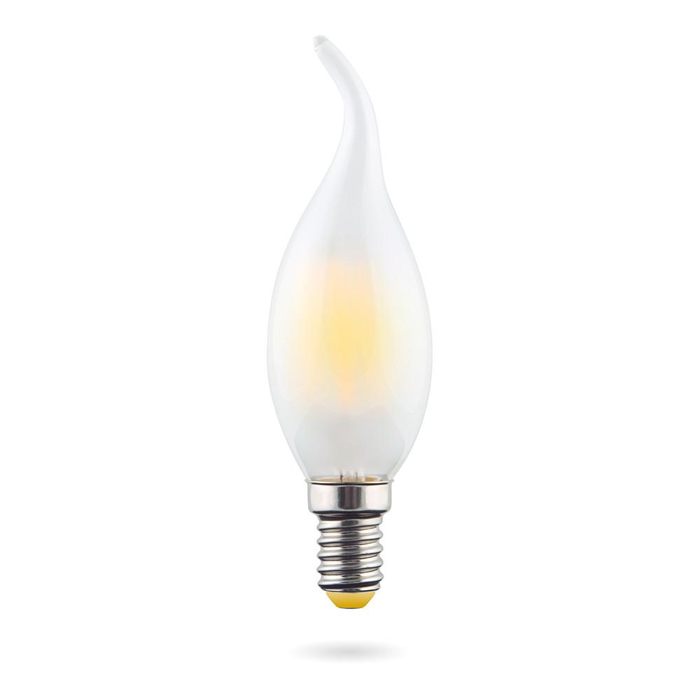 Купить Светодиодная лампа свеча на ветру Voltega 220V E14 6W (соответствует 60 Вт) 550Lm 2800K (теплый белый) 7025