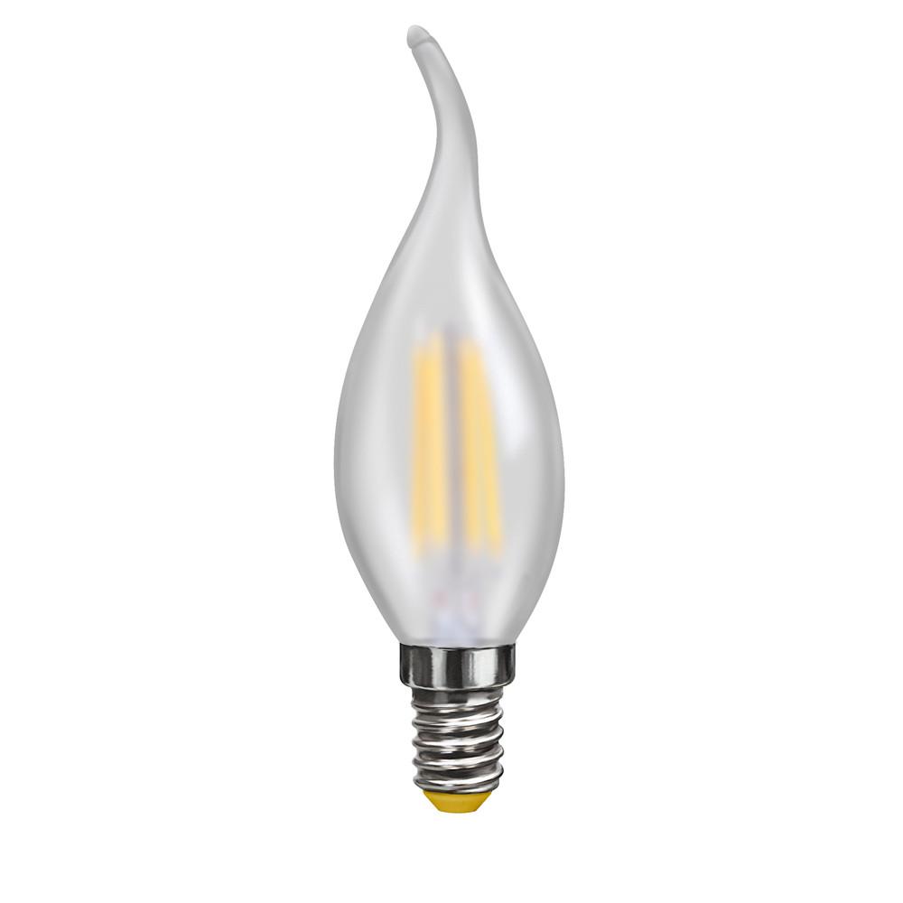 Купить Светодиодная лампа свеча на ветру Voltega 220V E14 4W (соответствует 40 Вт) 350Lm 2800K (теплый белый) 7006