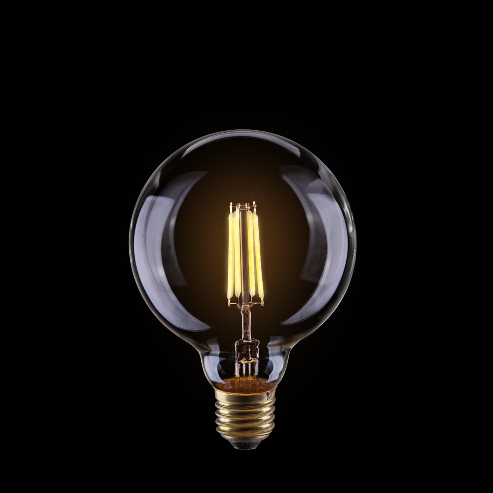 Светодиодная лампа шар Voltega 220V E27 4W (соответствует 35 Вт) 400Lm 2800K (теплый белый) 7014Лампочки<br>Светодиодная лампа шар Voltega 220V E27 4W (соответствует 35 Вт) 400Lm 2800K (теплый белый) 7014<br>