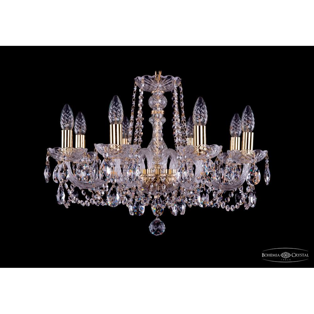 Светильник (Люстра) Bohemia Ivele Crystal 1402/8/195/G/tubeСветильник (Люстра) Bohemia Ivele Crystal 1402/8/195/G/tube<br>