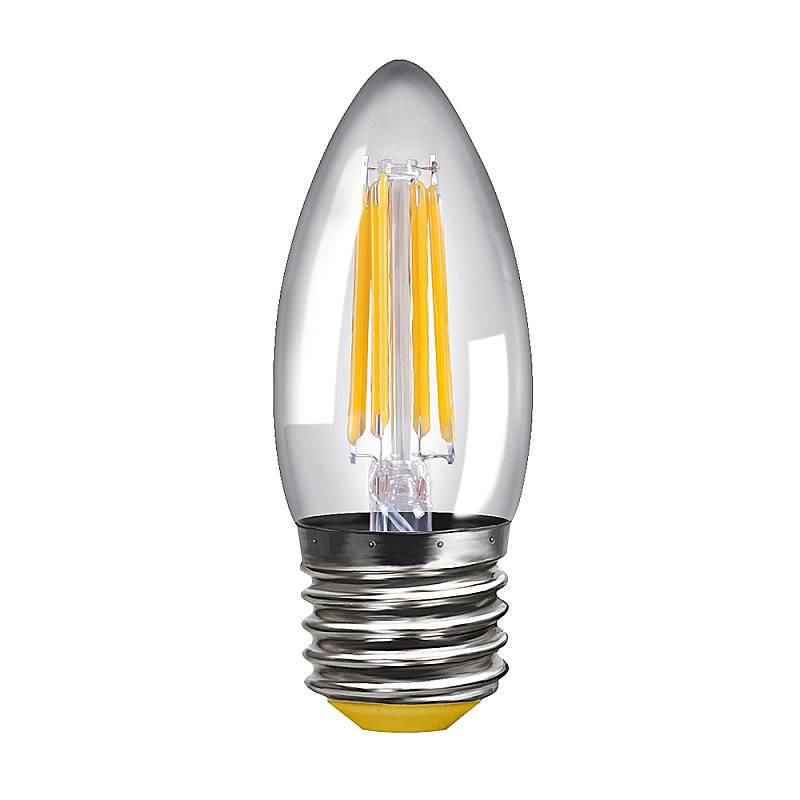 Купить Светодиодная лампа свеча Voltega 220V E27 4W (соответствует 40 Вт) 400Lm 2800K (теплый белый) 8334
