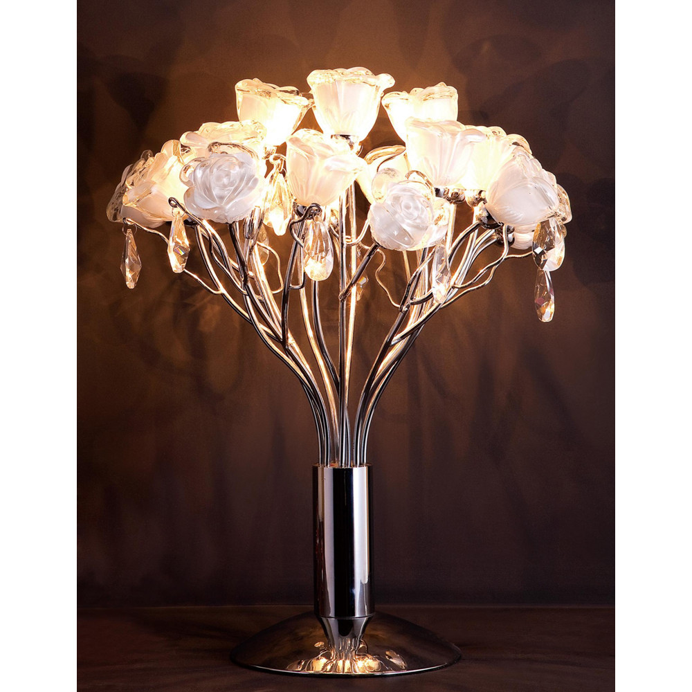 Лампа настольная Eletto Rosa Bianco EL325T04.1Лампа настольная Eletto Rosa Bianco EL325T04.1<br>