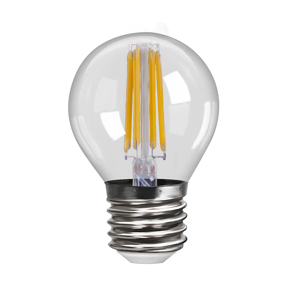 Купить Светодиодная лампа шар Voltega 220V E27 6W (соответствует 60 Вт) 600Lm 4000K (белый) 7024
