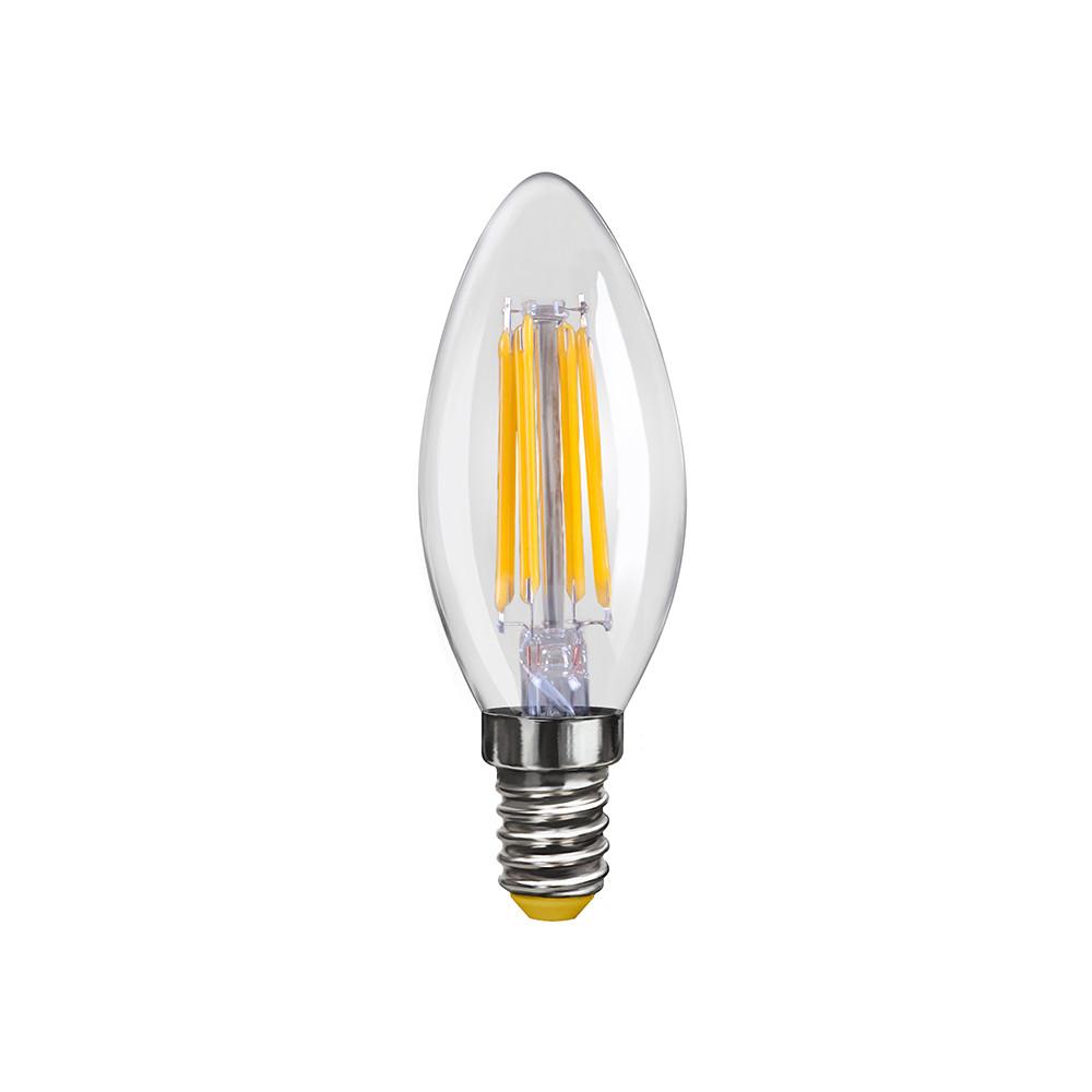 Купить Светодиодная лампа свеча Voltega 220V E14 6W (соответствует 60 Вт) 580Lm 2800K (теплый белый) 7019