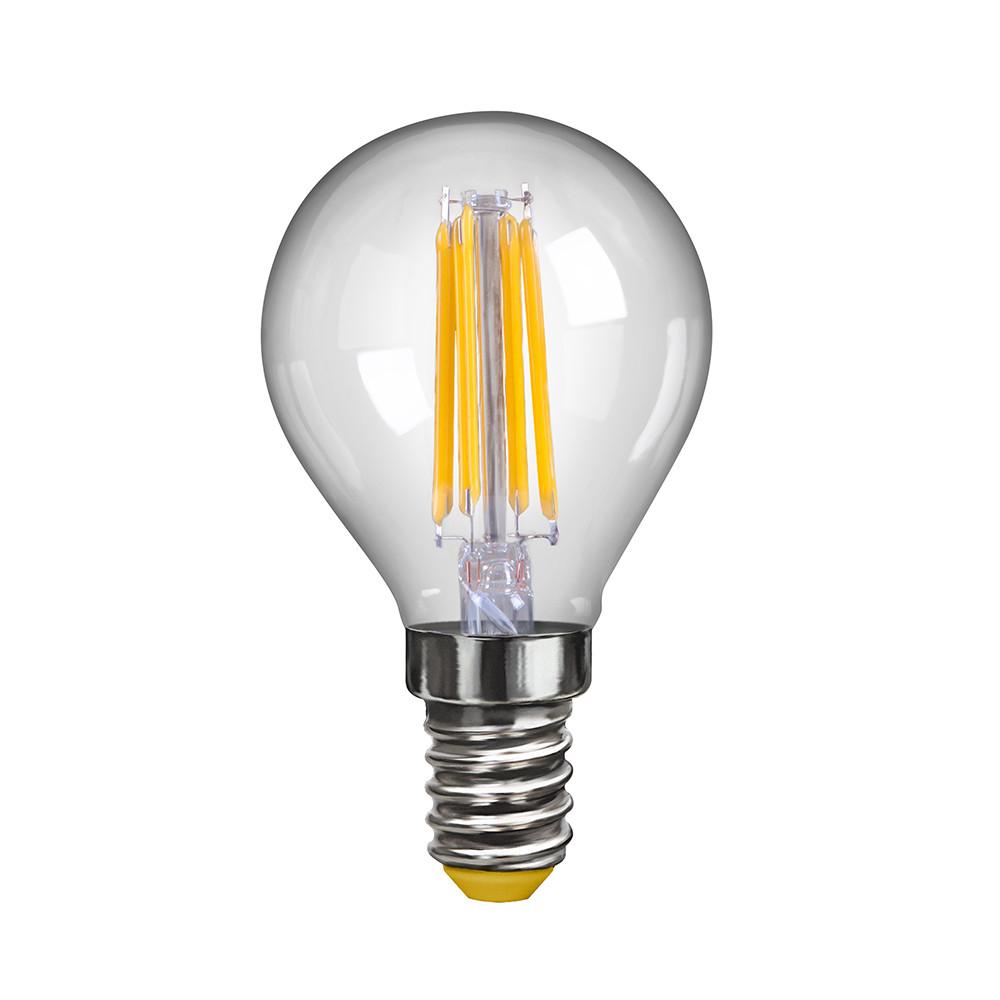 Купить Светодиодная лампа шар Voltega 220V E14 6W (соответствует 60 Вт) 580Lm 2800K (теплый белый) 7021