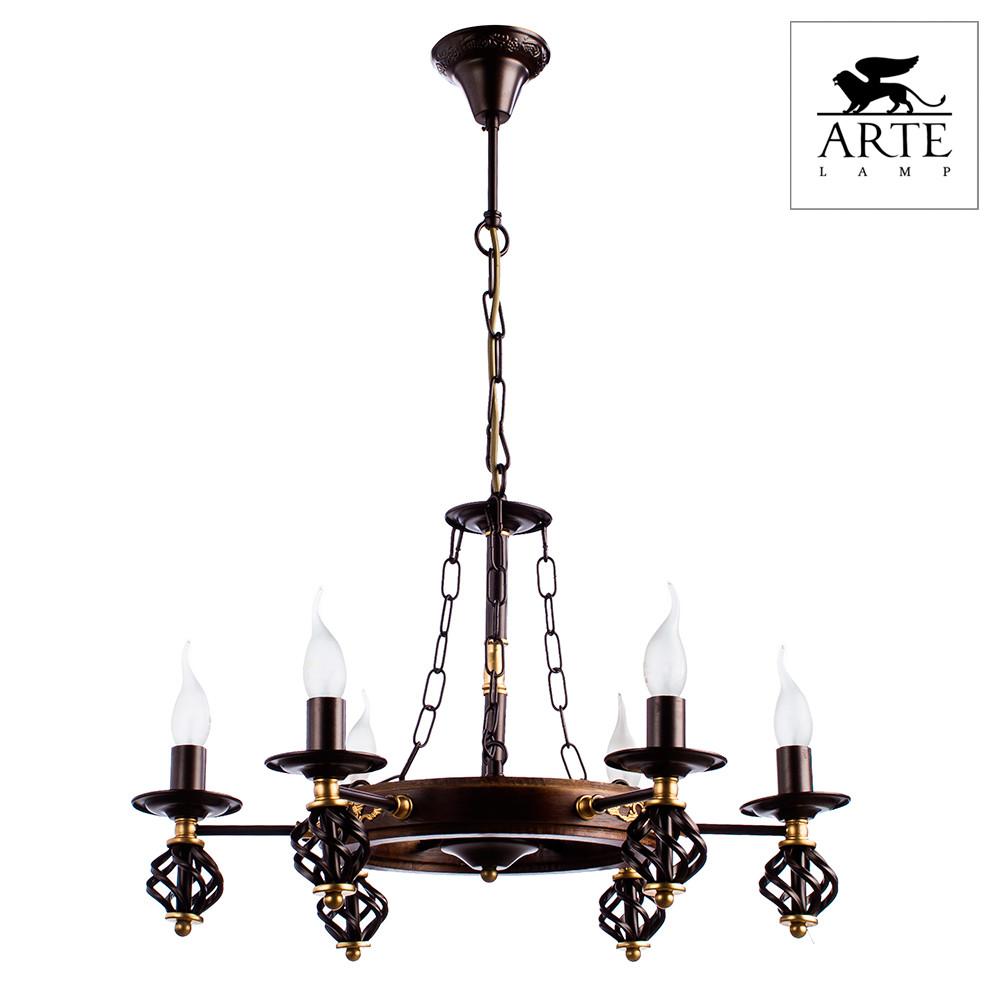 Светильник (Люстра) Arte Cartwheel A4550LM-6CK  - Купить