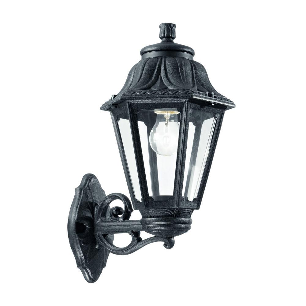 Купить Уличный настенный светильник Ideal Lux Anna AP1 BIG NERO
