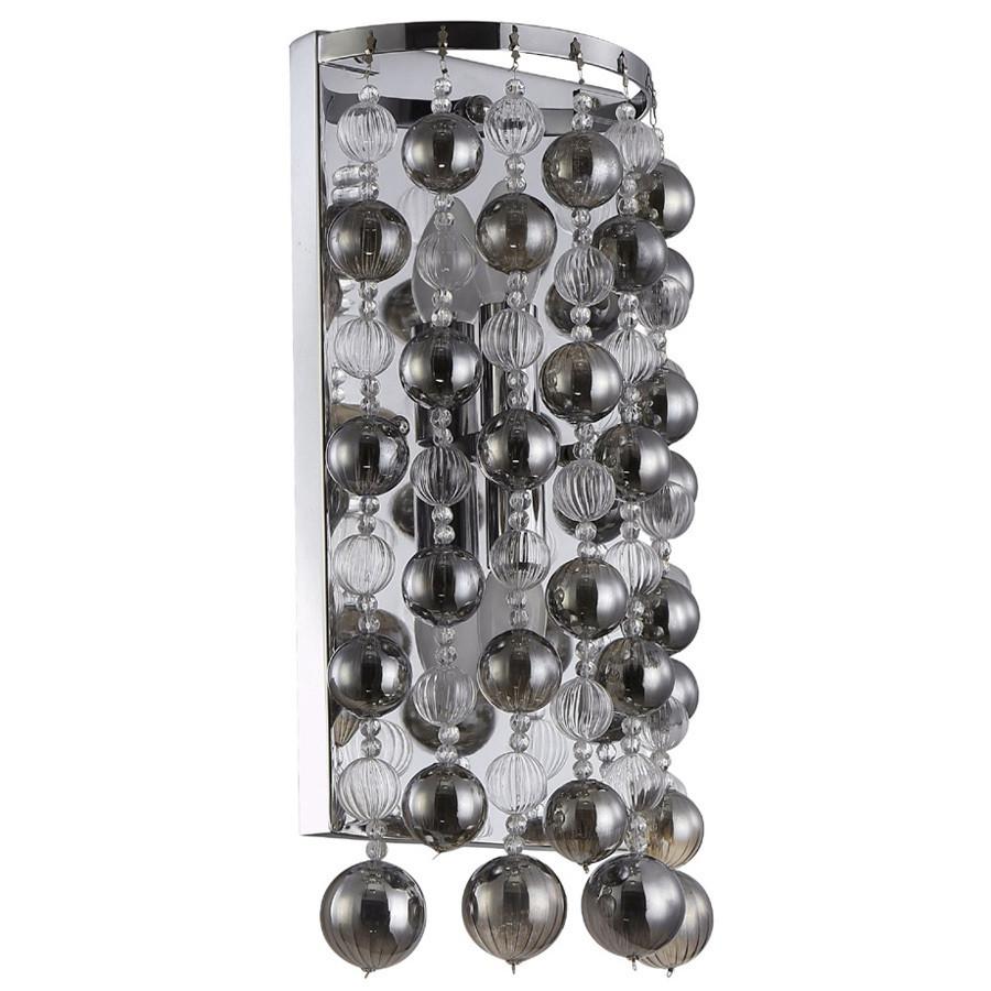 Светильник Crystal lux Crystal Lux MALLORCA AP2 CHROME/SMOKE от svetilnik-online