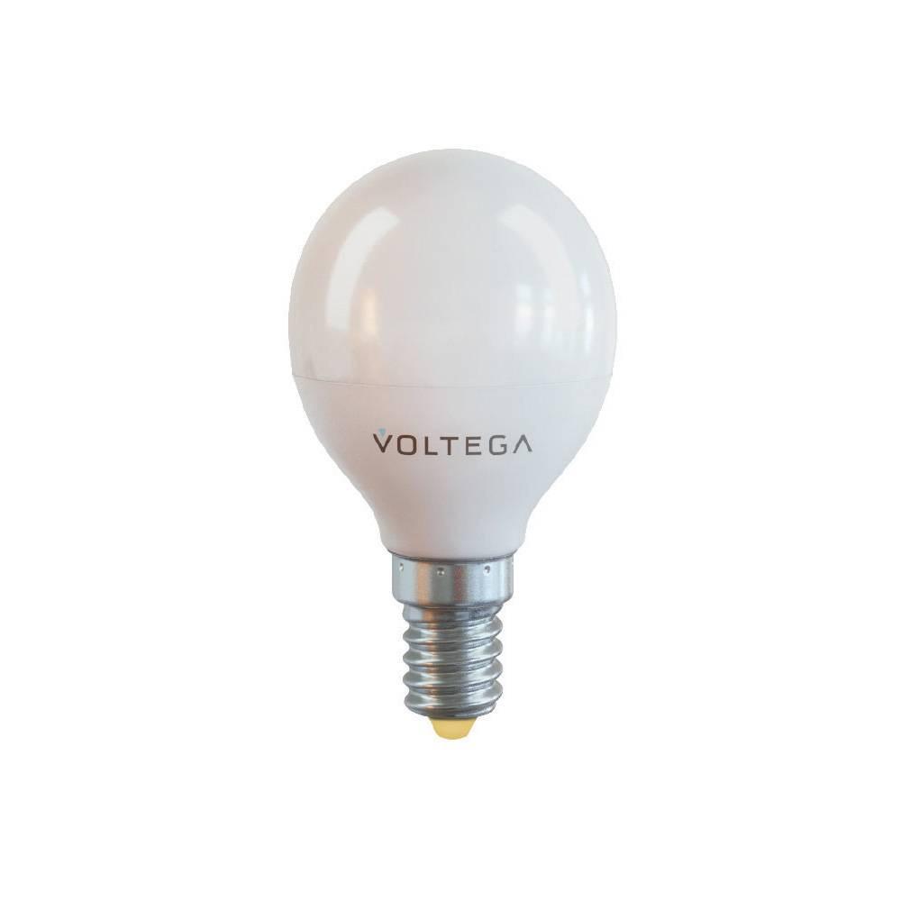 Купить Cветодиодная лампа шар Voltega 220V E14 7W (соответствует 70W) 650Lm 2800K (теплый белый) 7054