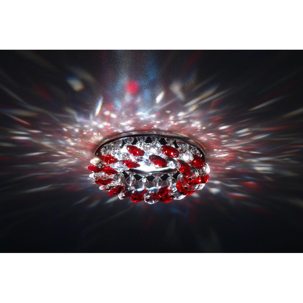 Точечный светильник Donolux Donolux DL061.02.1/6 crystal/red от svetilnik-online