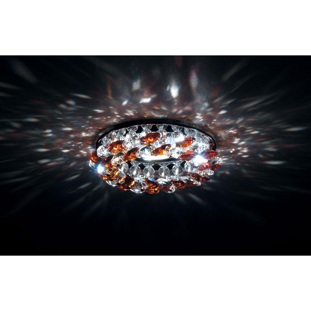 Точечный светильник Donolux Donolux DL061.02.1/7 crystal/topaz от svetilnik-online
