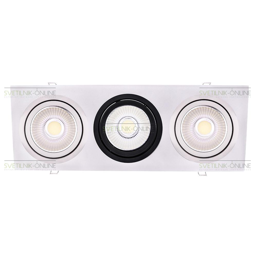 Точечный светильник Lightstar Lightstar Intero 111 Quadro Белый с черным три лампы от svetilnik-online