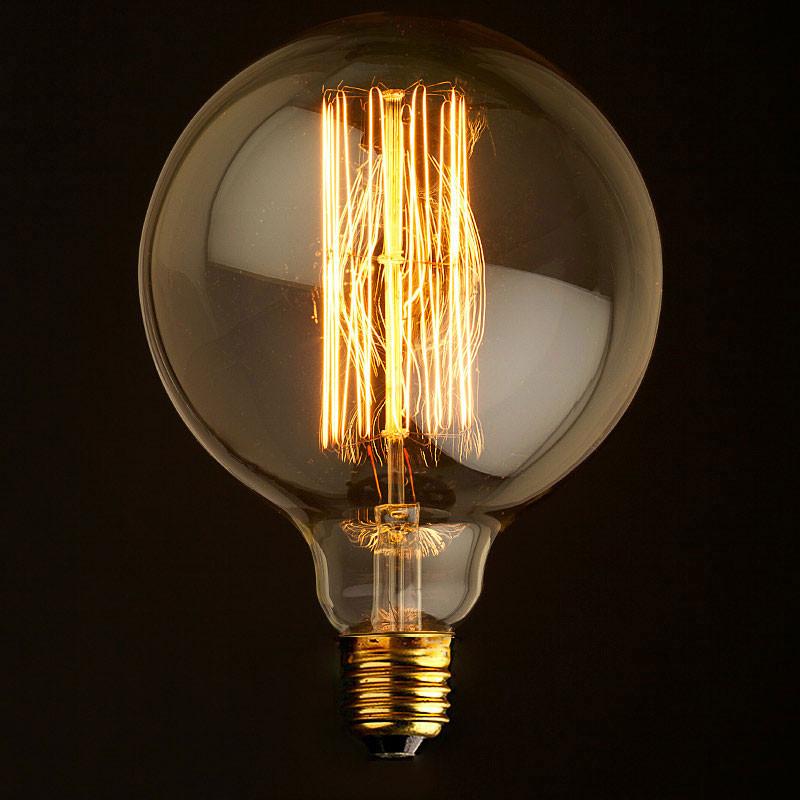 Лампочка Loft It Ретро лампа накаливания (шар) Loft It E27 60W 220V G12560 от svetilnik-online