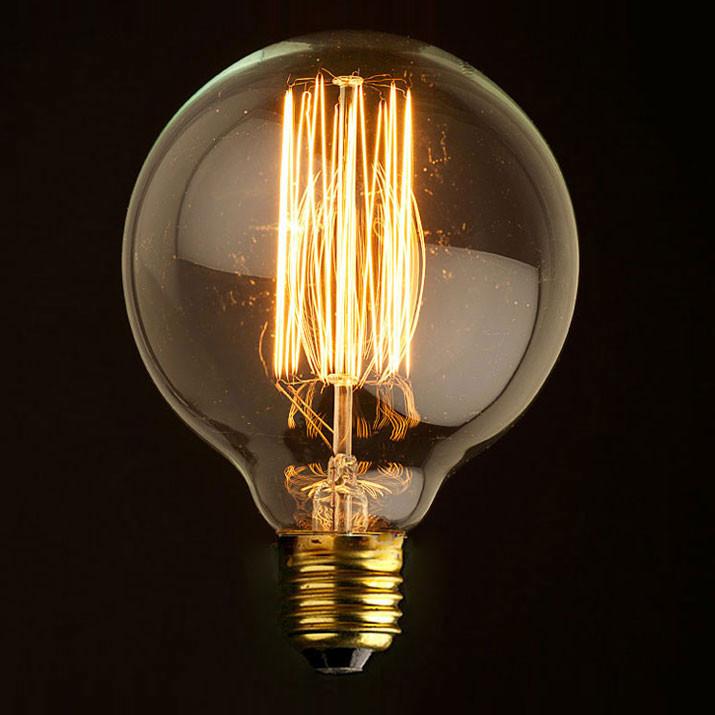 Ретро лампа накаливания (шар) Loft It E27 40W 220V G8040Лампочки<br>Ретро лампа накаливания (шар) Loft It E27 40W 220V G8040<br>