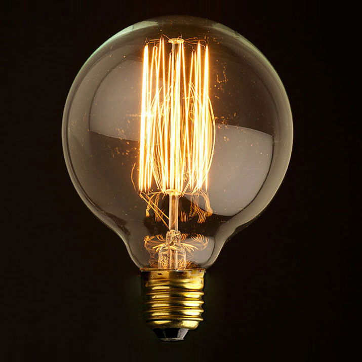 Лампочка Loft It Ретро лампа накаливания (шар) Loft It E27 60W 220V G8060 от svetilnik-online
