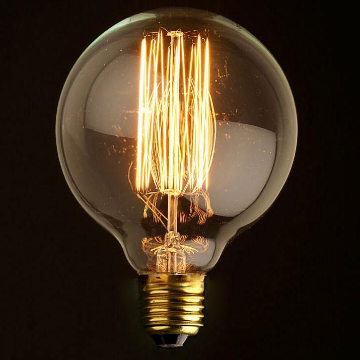 Лампочка Loft It Ретро лампа накаливания (шар) Loft It E27 60W 220V G9560 от svetilnik-online