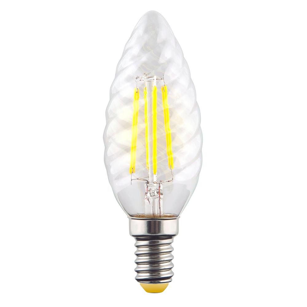 Купить Светодиодная лампа витая свеча Voltega 220V E14 6W (соответствует 60 Вт) 580Lm 2800K (теплый белый) 7027