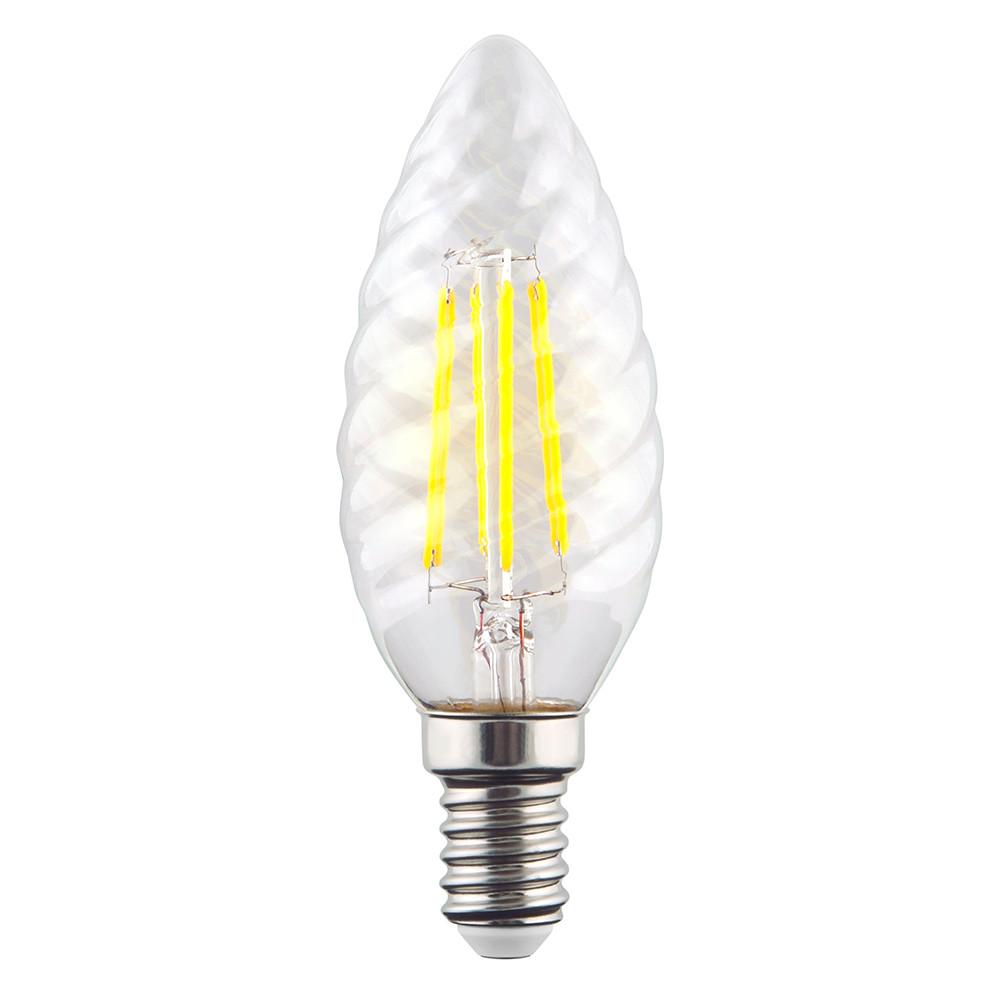 Купить Светодиодная лампа витая свеча Voltega 220V E14 6W (соответствует 60 Вт) 600Lm 4000K (белый) 7028
