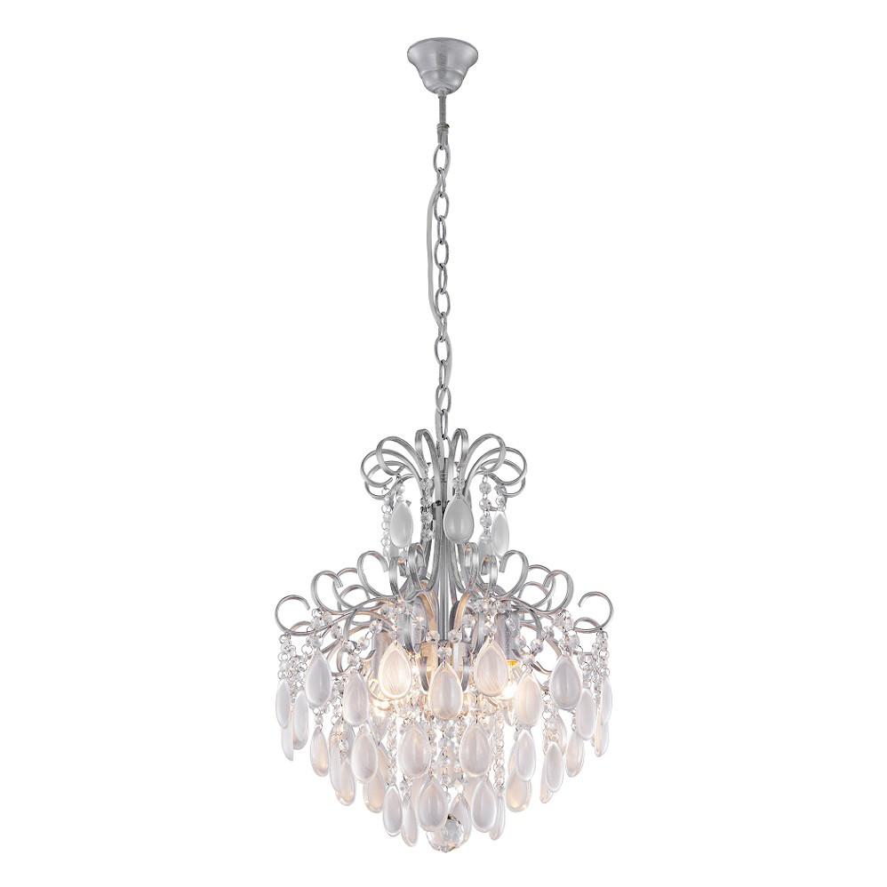 Люстра Crystal lux Crystal Lux SEVILIA SP4 SILVER от svetilnik-online