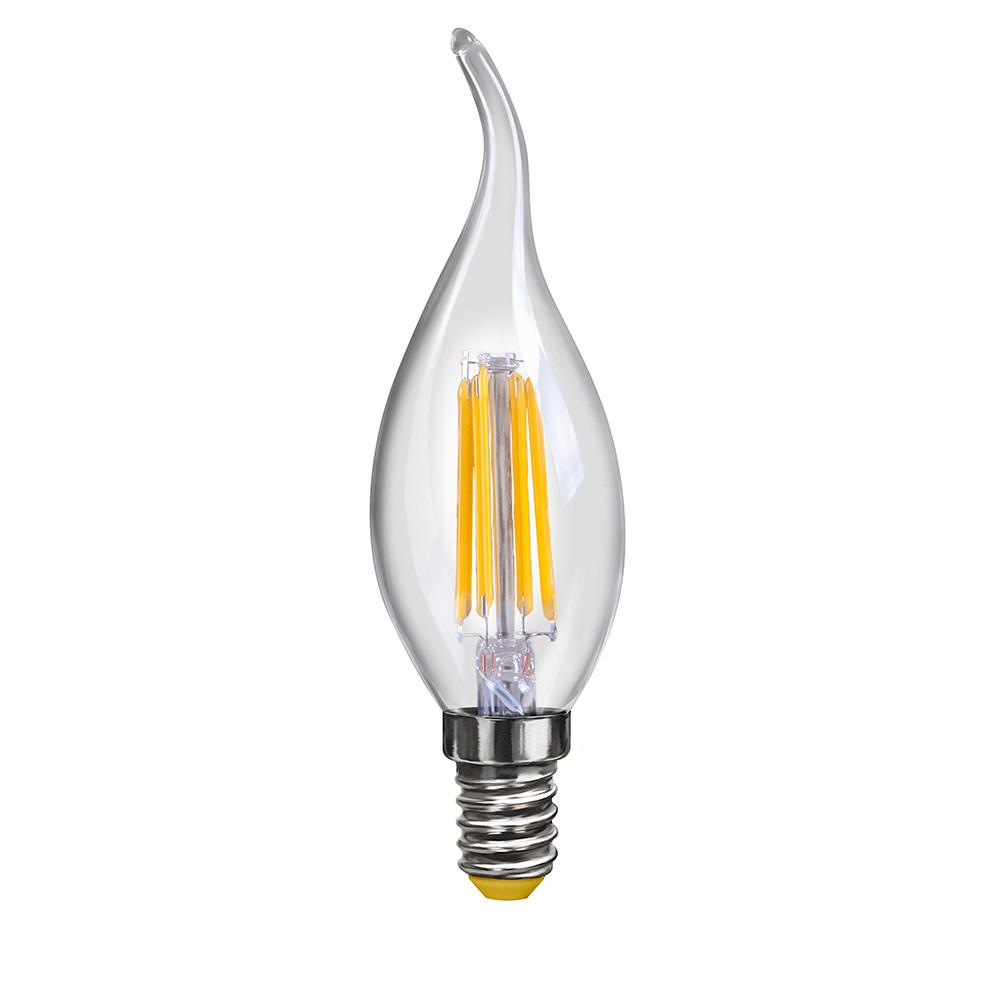 Купить Светодиодная лампа свеча на ветру Voltega 220V E14 6W (соответствует 60 Вт) 580Lm 2800K (теплый белый) 7017