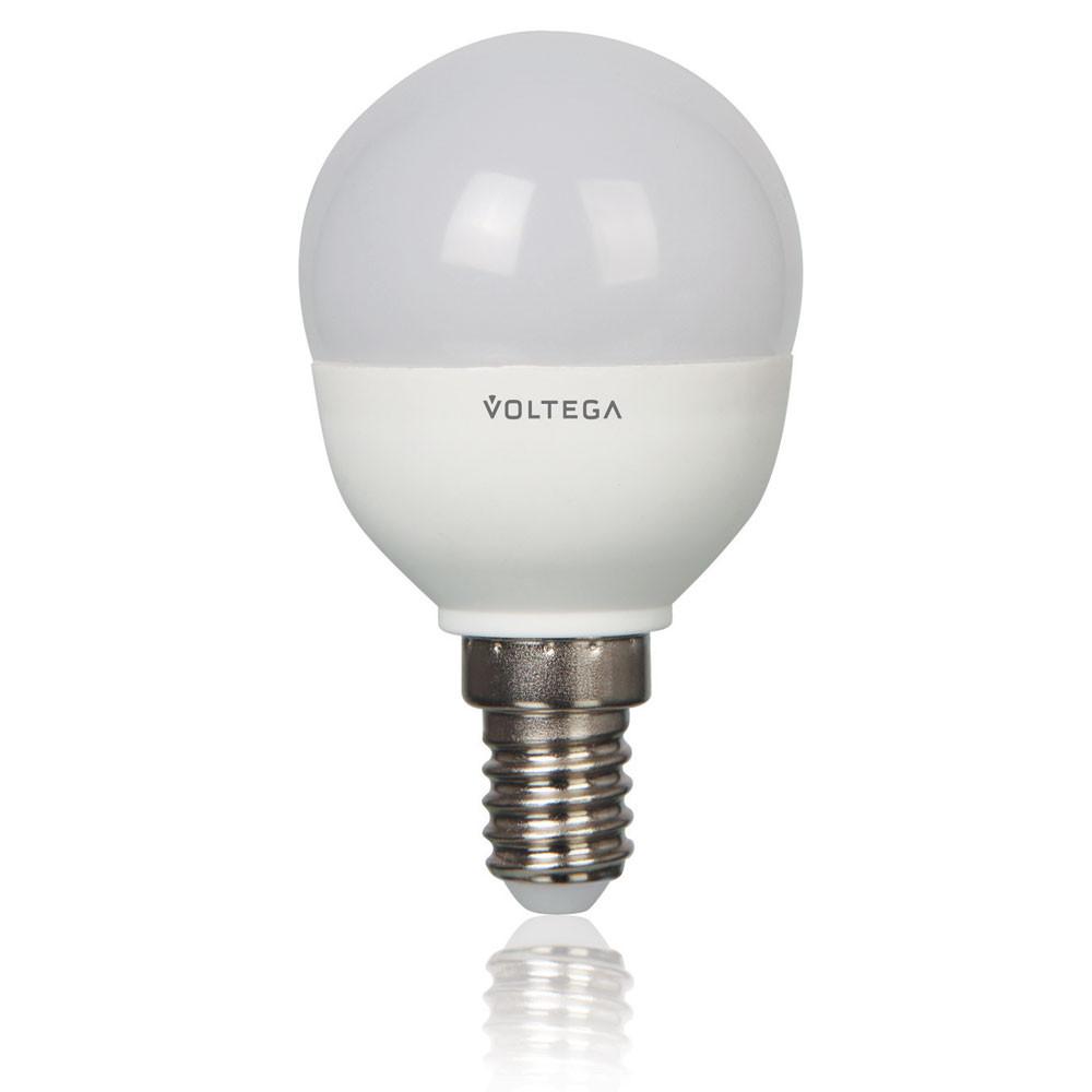 Купить Светодиодная лампа шар Voltega 220V E14 5.4W (соответствует 60 Вт) 470Lm 4000K (белый) 5748