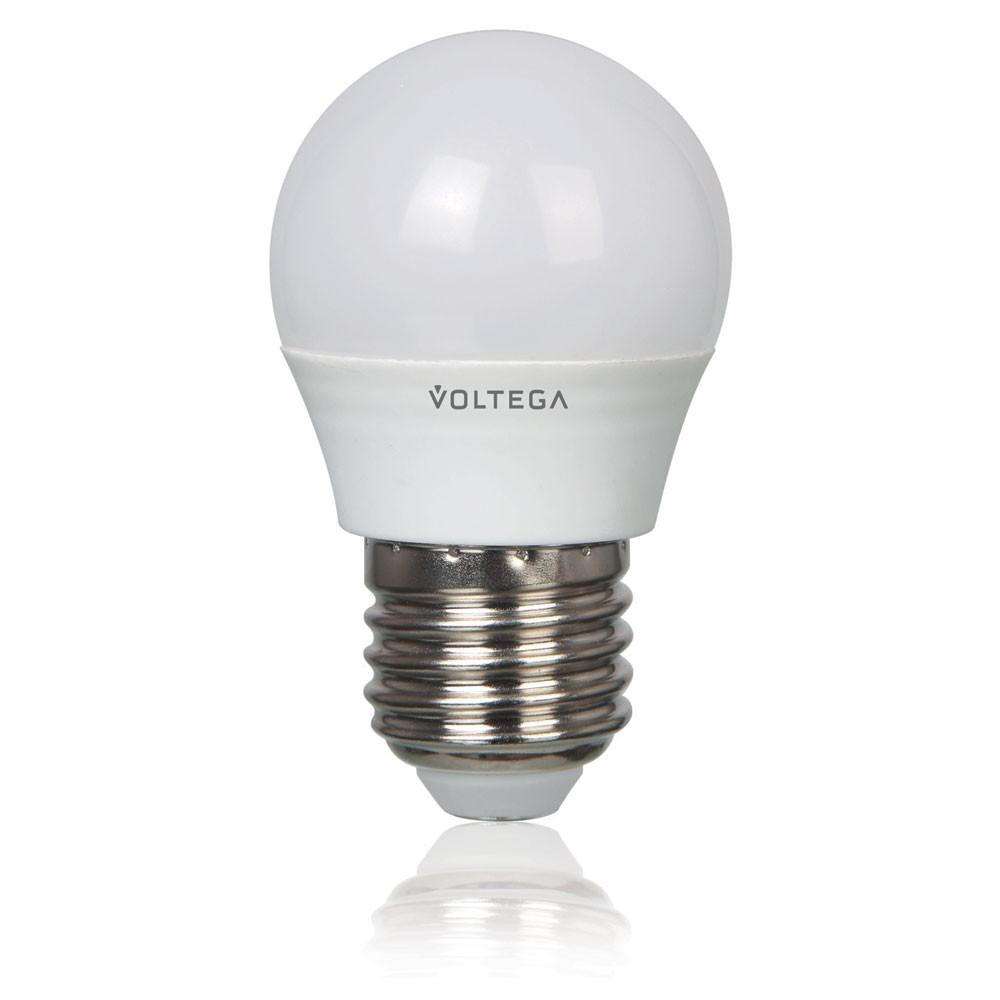 Купить Светодиодная лампа шар Voltega 220V E27 5.4W (соответствует 60 Вт) 470Lm 4000K (белый) 5750