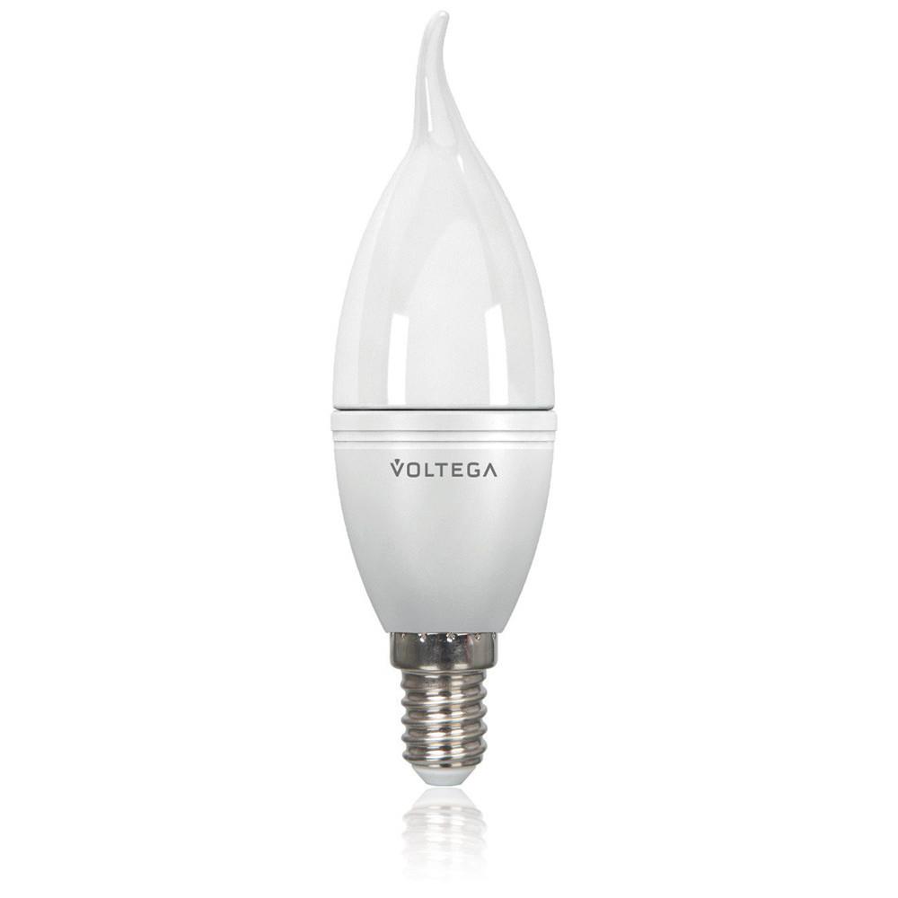 Лампочка Voltega Светодиодная лампа свеча на ветру Voltega 220V E14 5.7W (соответствует 60 Вт) 480Lm 4000K (белый) 8340 от svetilnik-online