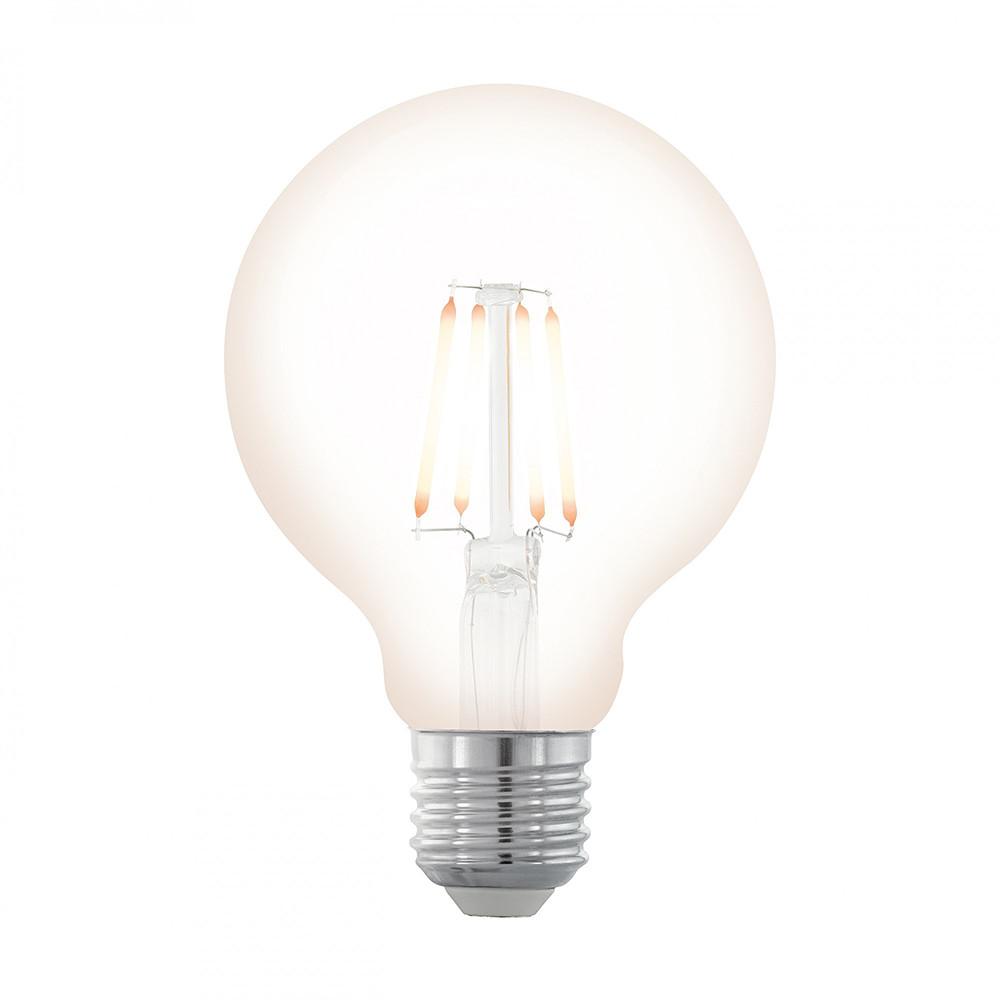 Купить Диммируемая светодиодная лампа филаментная Eglo G80 E27 4W (соответствует 40W) 390Lm 2200К (желтый) 11706