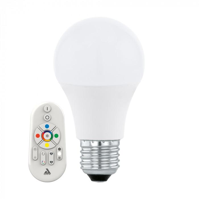 Диммируемая светодиодная лампа Eglo Connect E27 9W (соответствует 90W) 806Lm 2700K-6500K + RGB 11585