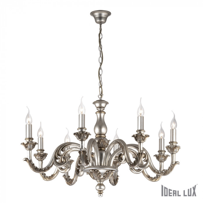 Люстра Ideal Lux Giglio SP8 ARGENTO
