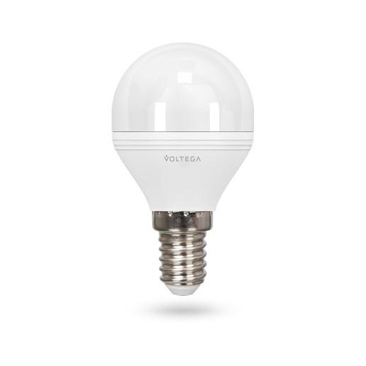 Светодиодная лампа шар диммируемая Voltega 220V E14 6W (соответствует 60 Вт) 480Lm 4000K (белый) 5494