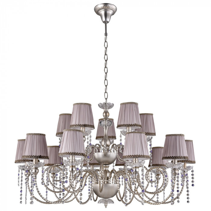 Люстра Crystal Lux ALEGRIA SP10+5 SILVER-BROWN
