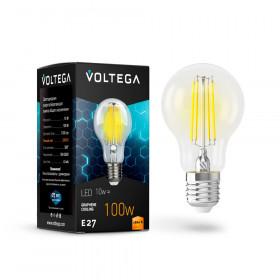 Светодиодная лампа Voltega 220V E27 10W (соответствует 100 Вт) 1100Lm 2800K (теплый белый) 7102