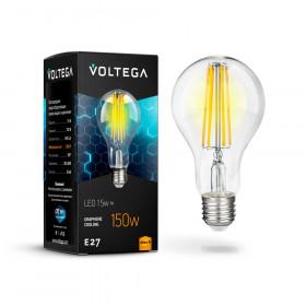 Светодиодная лампа Voltega 220V E27 15W (соответствует 150 Вт) 1450Lm 2800K (теплый белый) 7104