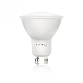 Светодиодная лампа софит Voltega 220V GU10 5W (соответствует 50 Вт) 420Lm 2800K (теплый белый) 4726