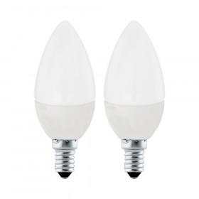 Светодиодная лампа свеча Eglo E14 4W (соответствует 40W) 320Lm 3000К (теплый белый) 10792
