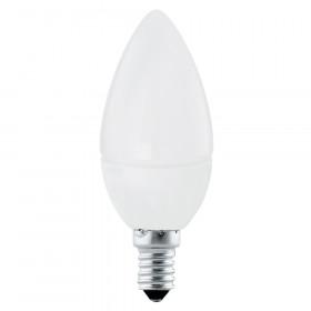 Светодиодная лампа свеча Eglo 220V E14 4W (соответствует 30 Вт) 320Lm 3000K (теплый белый) 11421