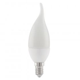 Светодиодная лампа свеча на ветру Eglo 220V E14 4W (соответствует 40 Вт) 320Lm 3000K (теплый белый) 11422