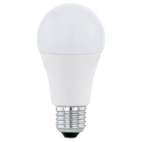 Светодиодная лампа Eglo 220V A60 E27 10W (соответствует 100 Вт) 806Lm 3000K (теплый белый) 11477