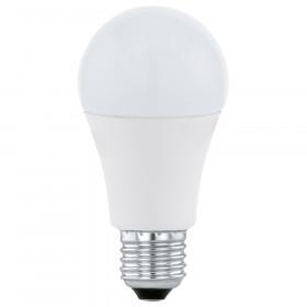 Светодиодная лампа Eglo 220V A60 E27 12W (соответствует 100 Вт) 1055Lm 3000K (теплый белый) 11478