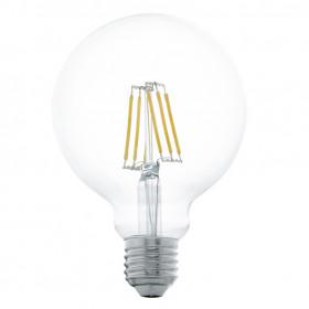 Светодиодная лампа филаментная Eglo 220V G95 E27 5W (соответствует 48 Вт) 600Lm 2700K (теплый белый) 11503