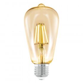 Светодиодная лампа филаментная Eglo 220V ST64 E27 4W (соответствует 40 Вт) 220Lm 2200K (теплый белый) 11521