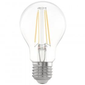Светодиодная лампа филаментная Eglo A60 E27 6.5W (соответствует 65W) 810Lm 2700К (теплый белый) 11534