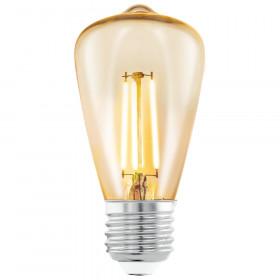 Светодиодная лампа филаментная Eglo 220V ST48 (янтарь) E27 3.5W (соответствует 22 Вт) 220Lm 2200K (теплый белый) 11553