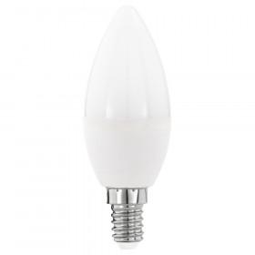 Светодиодная лампа свеча Eglo E14 5.5W (соответствует 55W) 470Lm 3000К (теплый белый) 11643