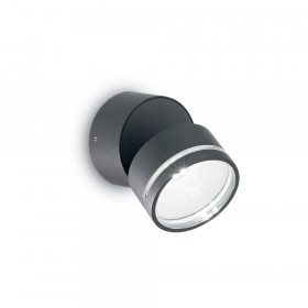 Уличный настенный светильник Ideal Lux Omega ROUND AP1 ANTRACITE