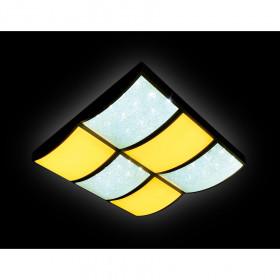 Светильник потолочный Ambrella Orbital Crystal Sand FS1510 WH/SD 144W D540*540