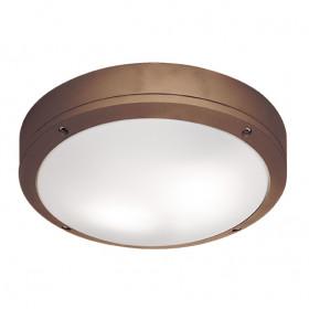 Уличный настенно-потолочный светильник Viokef Leros Round 4049203