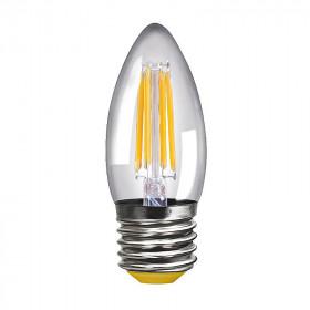 Светодиодная лампа свеча Voltega 220V E27 4W (соответствует 40 Вт) 400Lm 2800K (теплый белый) 8334